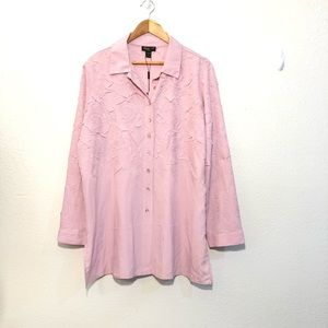 Jerry T New York Button Down Collared Blouse 2X